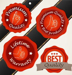 Quality Label vector image vector image