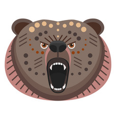 Roaring bear head logo decorative emblem vector