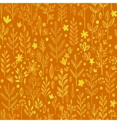 Seamless pattern doodling fall grass design vector image