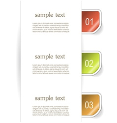 Set of paper bookmarker or stickers vector