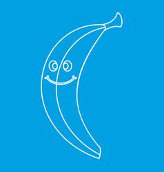 Smiling banana icon outline vector