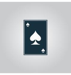 Spades card icon vector image vector image