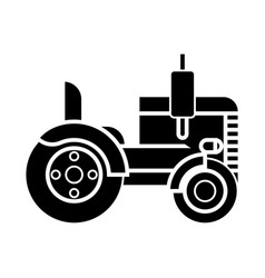 tractor icon sign o vector image