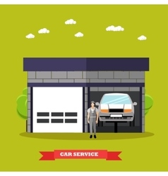 Car repair shop concept in vector