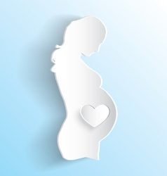Pregnant woman sticker vector