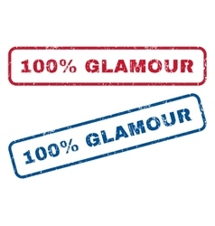 100 percent glamour rubber stamps vector