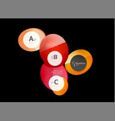 abstract circles on black vector image