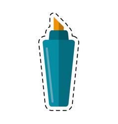 Cartoon marker write school utensil vector