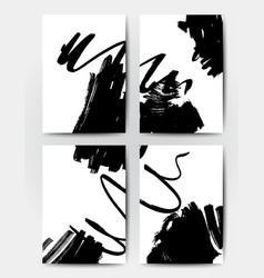 Brush grunge templates vector