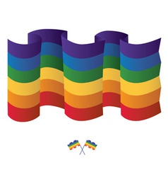Isolated gay Rainbow flag vector image