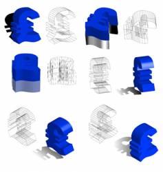 3d symbols euros vector