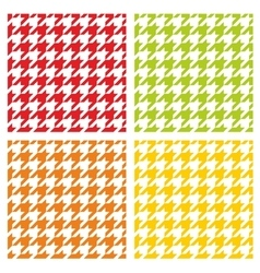 Houndstooth tile pattern or background set vector