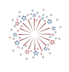Cute fireworks vector