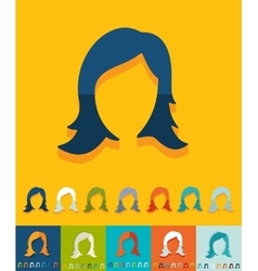 Flat design hair styling vector image