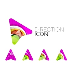 Set of abstract directional arrow icons business vector