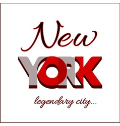 New york city typography graphic vector