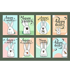 Set of ready designs for print easter greeting vector