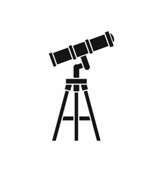 Telescope icon simple style vector