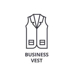 business vest line icon outline sign linear vector image