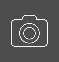 camera line icon outline on vector image vector image