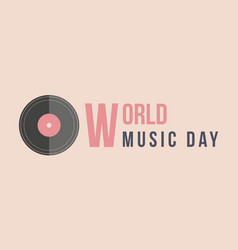 Celebration world music day vector