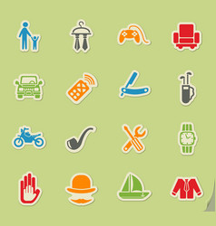 Father day icon set vector