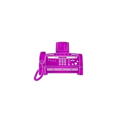 Fax machine Flat design style vector image vector image