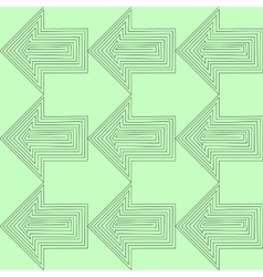 Flat Style Seamless Arrow Background vector image vector image