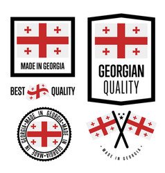 Georgia quality label set for goods vector