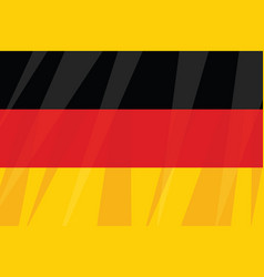 German state flag three colors black red yellow vector