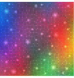glamour rainbow shining rounds background disco vector image vector image
