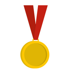 gold medal icon isolated vector image
