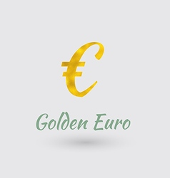 Golden euro symbol vector