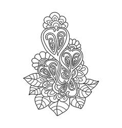 Hand drawn design element Doodle art flowers vector image