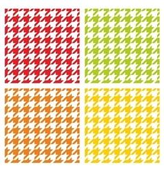 Houndstooth tile pattern or background set vector