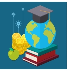 international educational projects vector image vector image