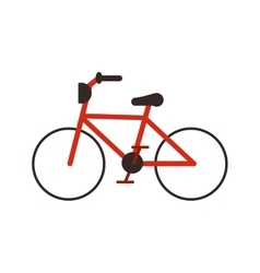 Isolated bike vehicle design vector