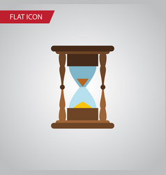 Isolated clock flat icon minute measuring vector