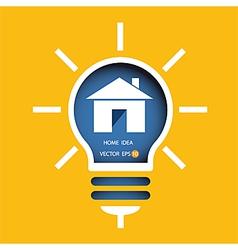 lamp idea of home design concept vector image vector image