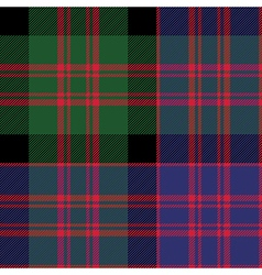 Macdonald tartan kilt fabric textile check pattern vector