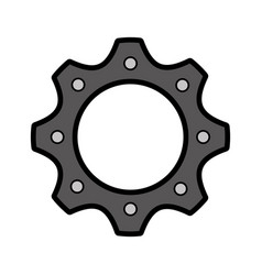 Machinery gear isolated icon vector
