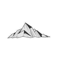 Mountains engraving style vector