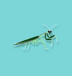 Paper sticker on background of mantis vector