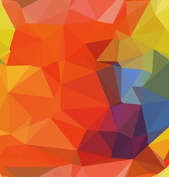 Polygonal colorful backdrop vector image