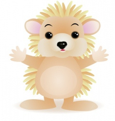 porcupine cartoon vector image