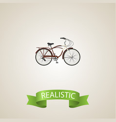 Realistic cruise bicycle element vector