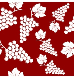 Seamless background with bunches of grapes vector image