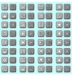Stone game icons buttons icons interface vector