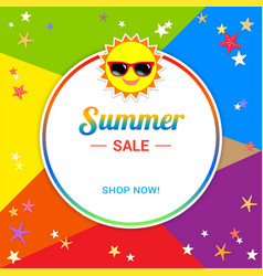 Summer sale template banner in vector