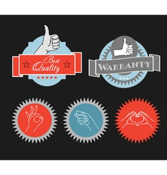 Vintage shopping labels and logo clip-art vector image vector image